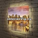 Лайтбокс Вечерний мост 45x45-108