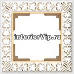 Рамка Antik на 1 пост белое золото WL07-Frame-01 4690389099175