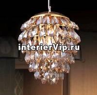 Подвесной светильник Crystal Lux Charme SP3+3 LED Gold/Amber