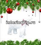 Фигурка светодиодная Белый медведь 1 48x60см (09563) ULD-M6048-120/STA