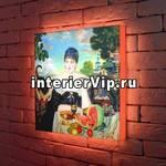 Лайтбокс Кустодиев Купчиха за чаем 45x45-127