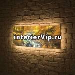 Лайтбокс панорамный Ручей 45x135-p014