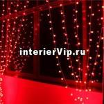 Занавес светодиодный уличный 300см красный (UL-00001362) ULD-C2030-240/SWK RED IP67