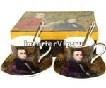 Кофейный комплект Mozart с блюдцами и ложками