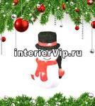 Фигурка светодиодная Снеговик-3 27x18см (11034) ULD-M1827-030/STA