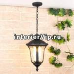 Уличный подвесной светильник Elektrostandard Carina H GLYF-1452H черный 4690389063121