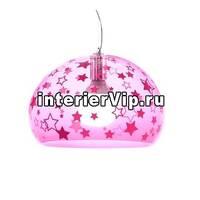 Kartell 9853/KK - Светильник подвесной FL/Y (розовый) 38см с рисунком