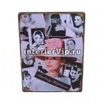 Табличка металлическая Audrey Hepburn  фотоколлаж