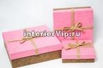 Набор подарочных коробок из картона (3 шт)