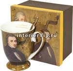 Кружка фарфоровая Mozart с ложкой
