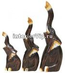 Комплект деревянных фигурок Три слоника