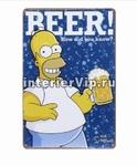 Табличка Homer Simpson & beer