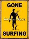 Табличка Gone Surfing