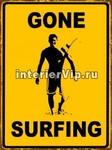 Табличка Gone Surfing