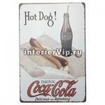 Табличка Coca-cola & Hot Dog
