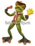 Фигурка декоративная Лягушка с флагом PL