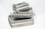 Набор деревянных кашпо