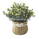 Декоративные искусственные цветы в горшочке