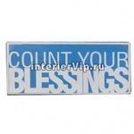 Табличка металлическая Count your blessings