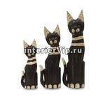 Набор статуэток 3 коричневых кота