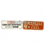 Табличка металлическая Complaint departament