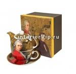 Чайник заварочный Mozart  с чашкой и блюдцем